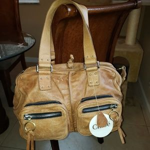 Carry on  chloe leather bag authentic 100%